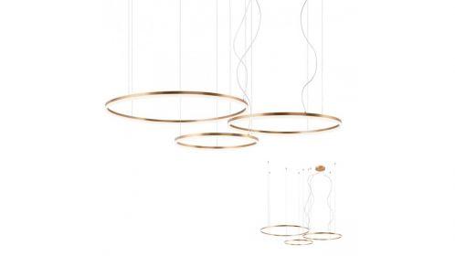 Lustra Orbit Led Brass 163 W