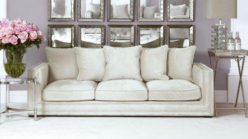 Canapea liniara Menorca Stone Grey