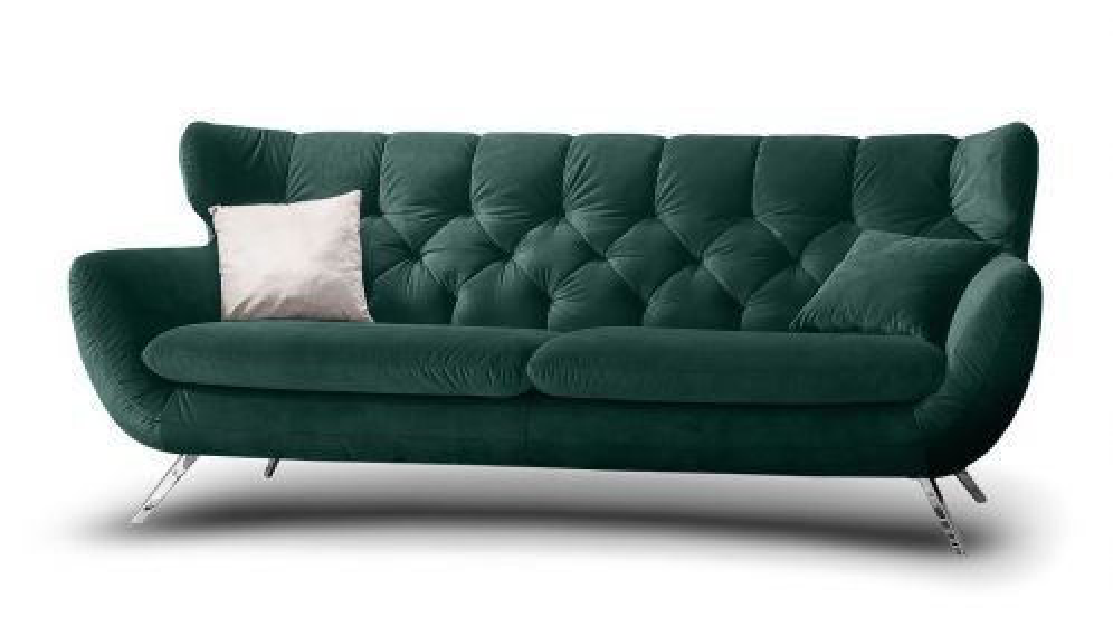 Canapea liniara Sixty 3 locuri Velvet Blue Grey