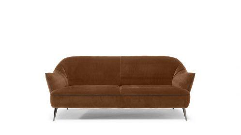 Canapea liniara Estasi 3 locuri textil Brezza Camel