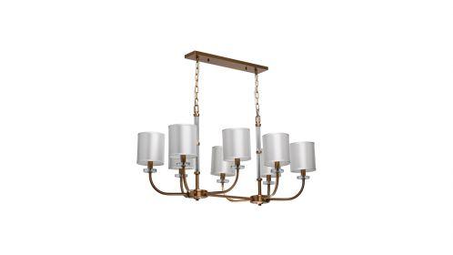 Candelabru Palermo Oval Brass shades 8X60W