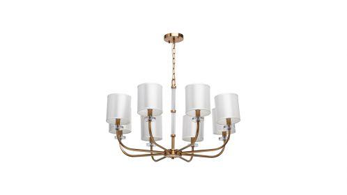Candelabru Palermo Round Brass shades 8X60W