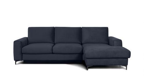 Canapea de colt extensibila Bella Piano Dark Blue S3, dreapta