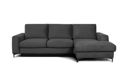 Canapea de colt extensibila Bella Piano Grey S3, dreapta
