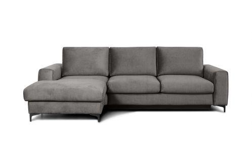 Canapea de colt extensibila Bella Kingston Grey S3, stanga