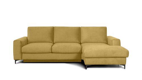 Canapea de colt extensibila Bella Kingston Mustard S3, dreapta