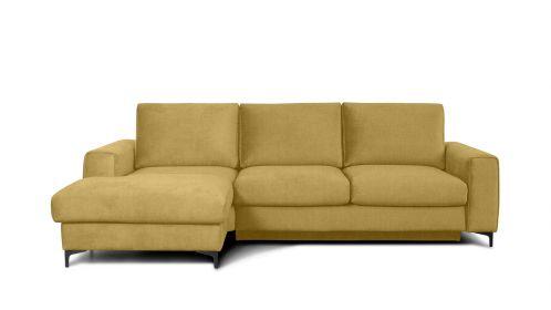 Canapea de colt extensibila Bella Kingston Mustard S3, stanga