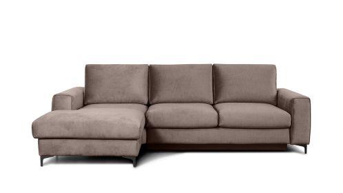 Canapea de colt extensibila Bella Kingston Beige S3, stanga
