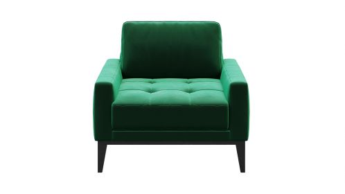 Fotoliu Calini Velvet Button Green