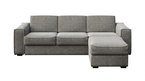 Canapea extensibila cu sezlong reversibil Martini Grey