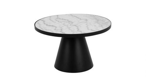 Masuta de cafea Soli White Marble 66 cm
