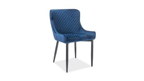 Scaun Ontario blue velvet