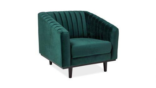 Fotoliu Bruno green velvet