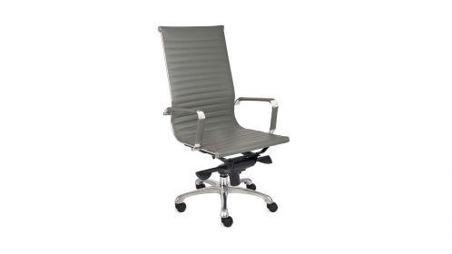 Scaun de birou Next Grey Leather