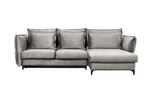 Canapea de colt extensibila Eva Kingston Light Grey S1, dreapta