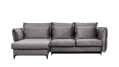 Canapea de colt extensibila Eva Kingston Grey S1, stanga