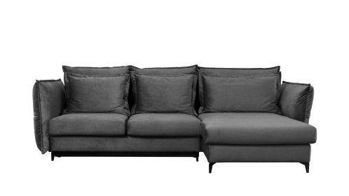 Canapea de colt extensibila Eva Piano Grey S1, dreapta