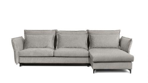 Canapea de colt extensibila Eva Kingston Light Grey S2, dreapta