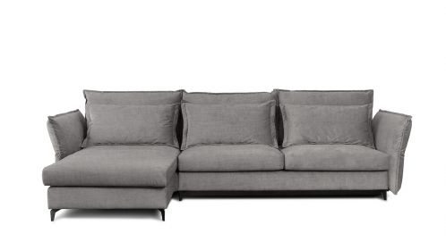 Canapea de colt extensibila Eva Kingston Grey S2, stanga