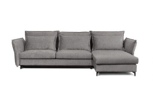 Canapea de colt extensibila Eva Kingston Grey S2, dreapta