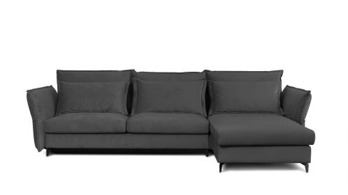 Canapea de colt extensibila Eva Piano Grey S2, dreapta