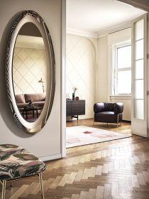 Oglinda ovala Surface Glass Bronze