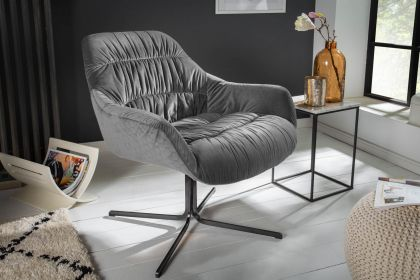 Fotoliu Big Dutch Grey Velvet