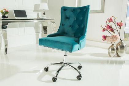 Scaun de birou Victorian Turquoise Velvet