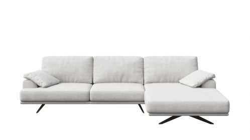 Canapea de colt cu sezlong Terni Italvelluti White, dreapta