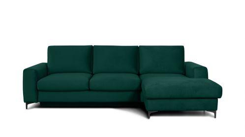 Canapea de colt extensibila Bella Monolith Dark Green S3, dreapta