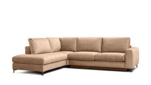 Canapea de colt extensibila Bella Salvador Dark Beige S1, stanga