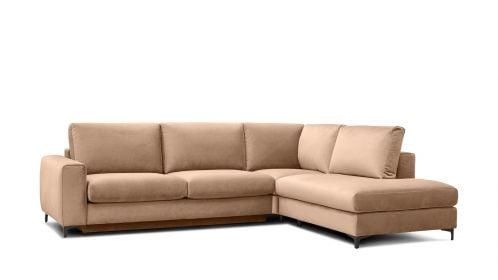Canapea de colt extensibila Bella Salvador Dark Beige S1, dreapta