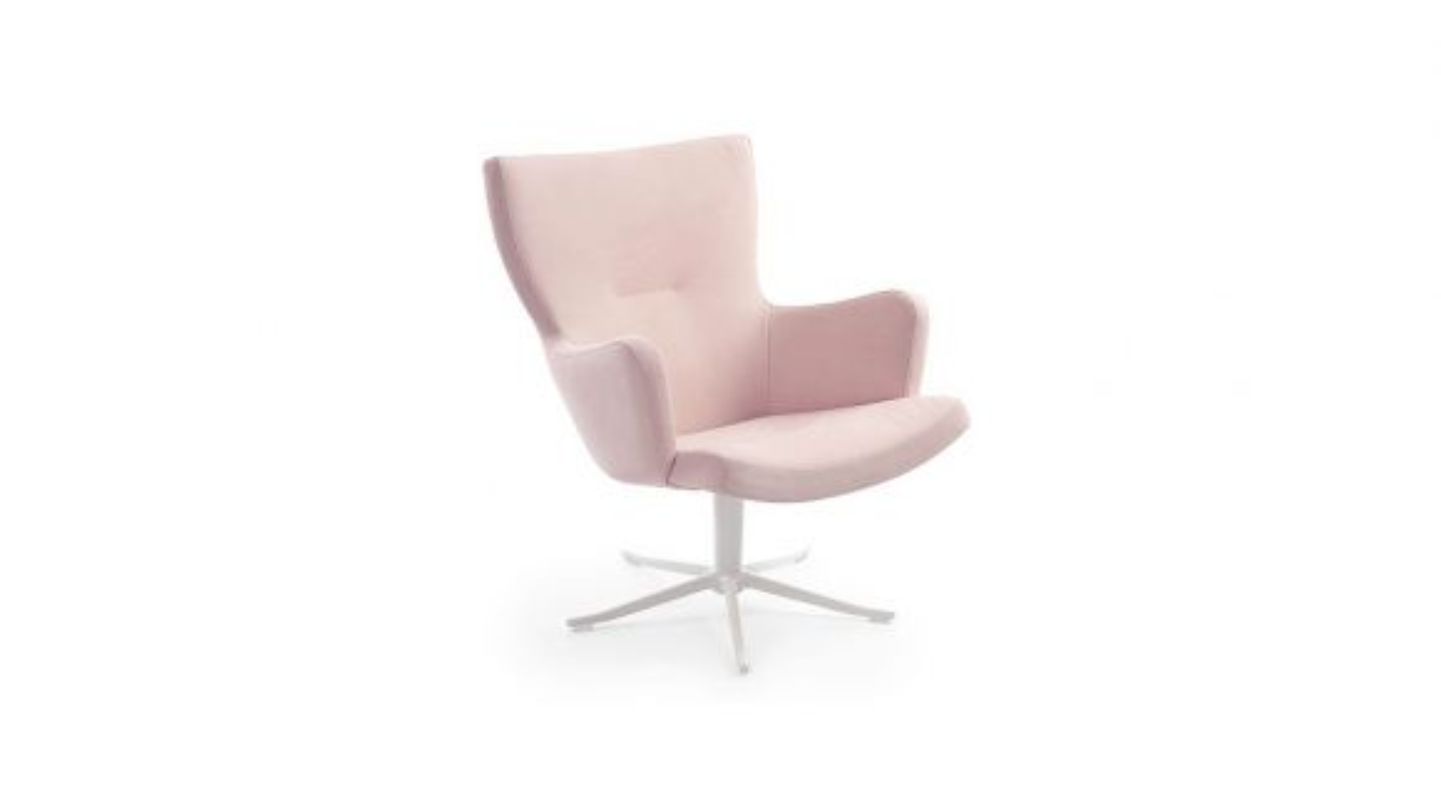 Fotoliu rotativ Gyro piele Nubuck Pink