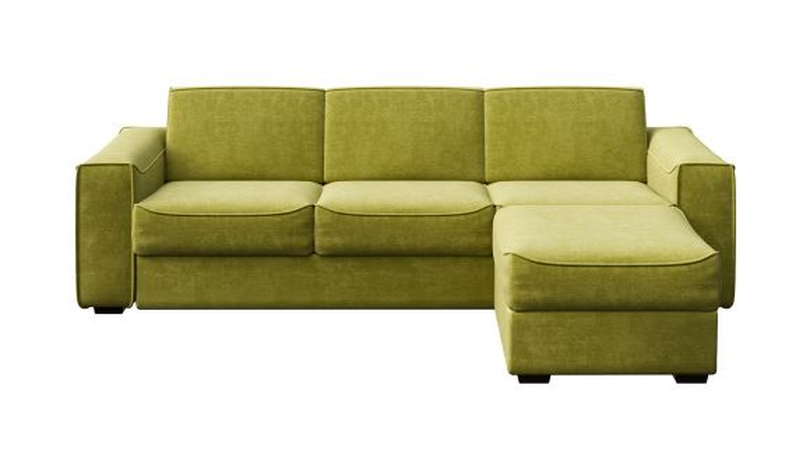 Canapea extensibila cu sezlong reversibil Martini Italvelluti Olive
