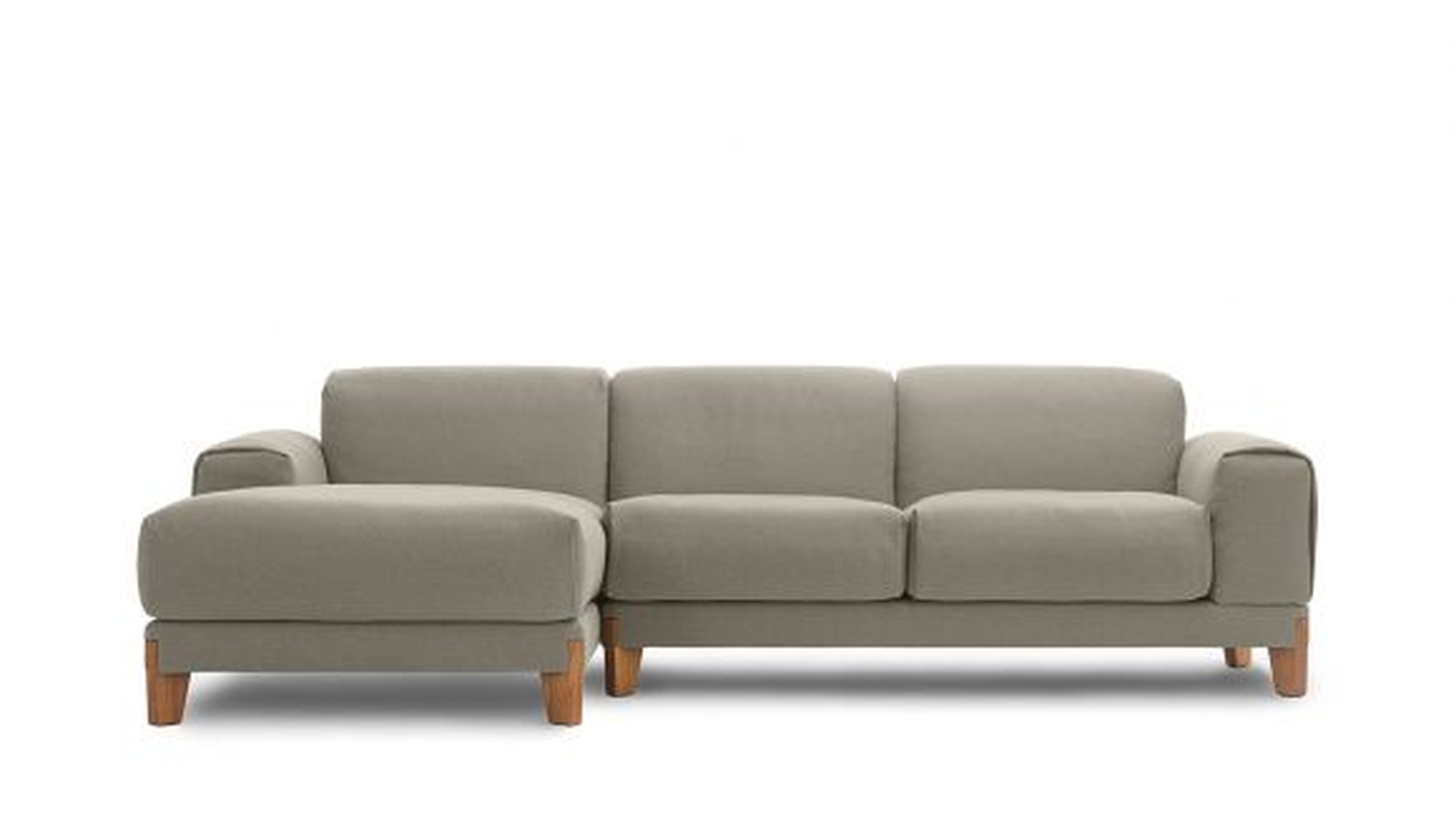 Canapea cu sezlong stanga Fjord Tortora