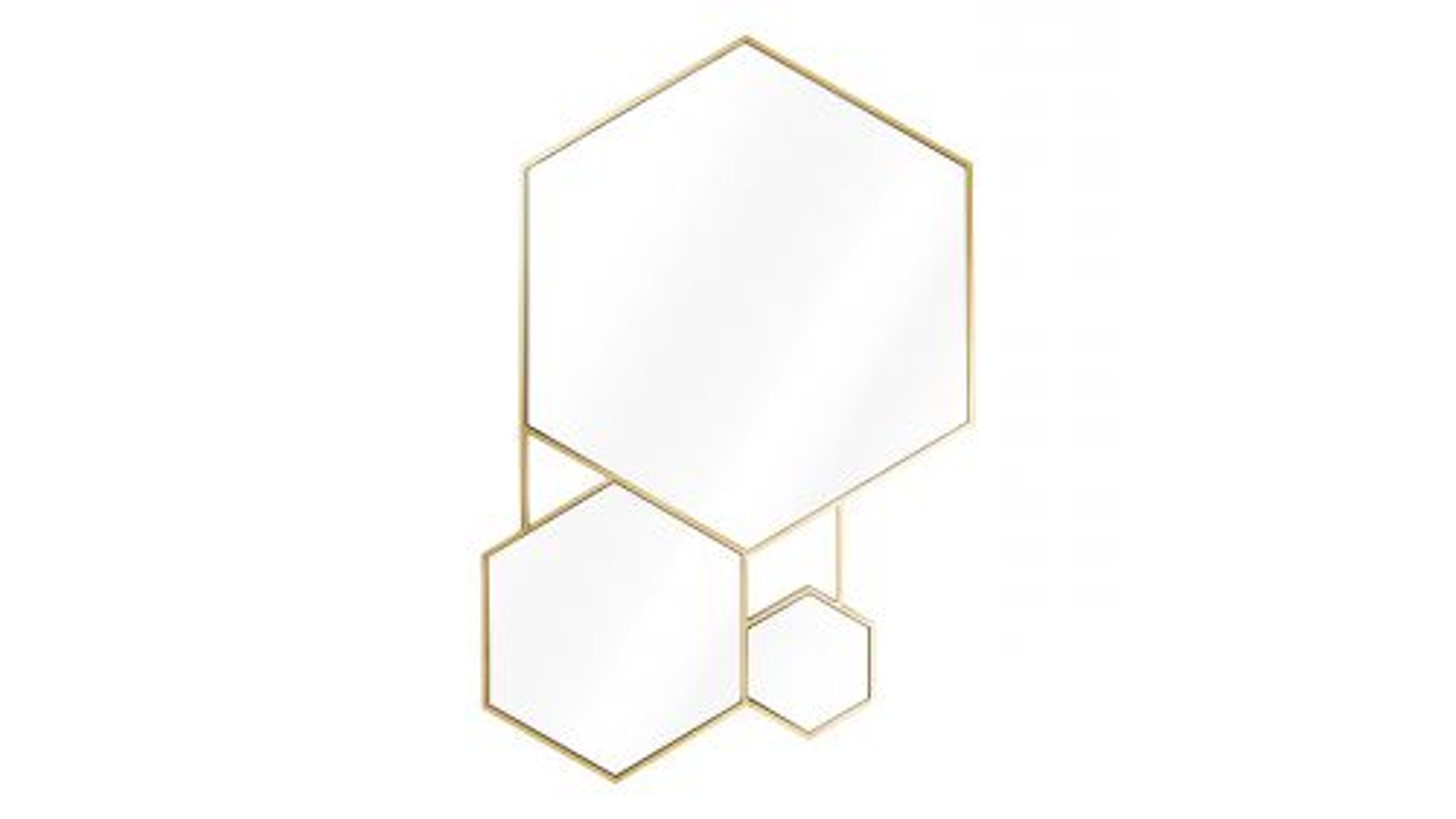 Oglinda Hexa gold