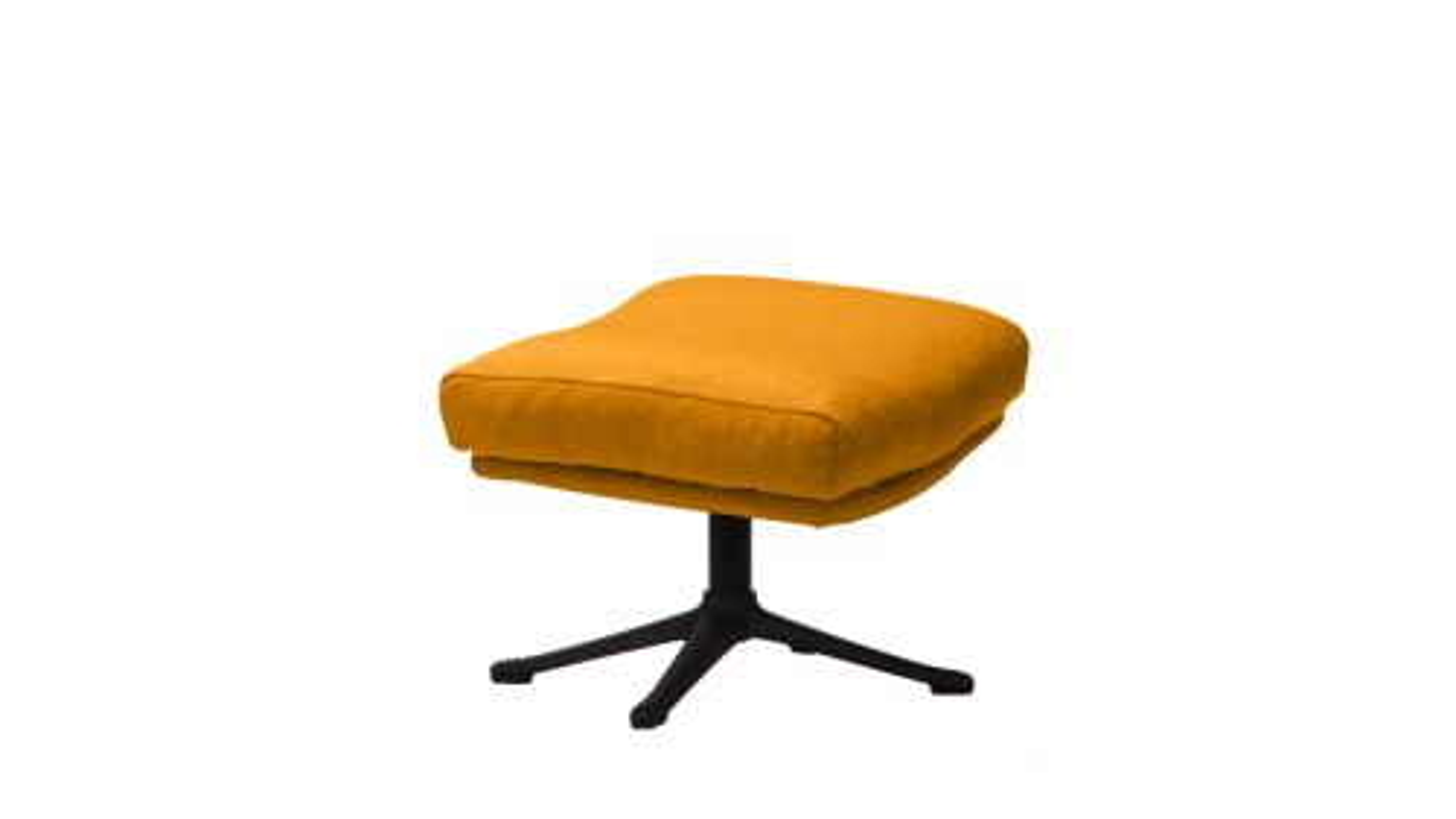Pouf Moro textil Super Velvet Warm Yellow