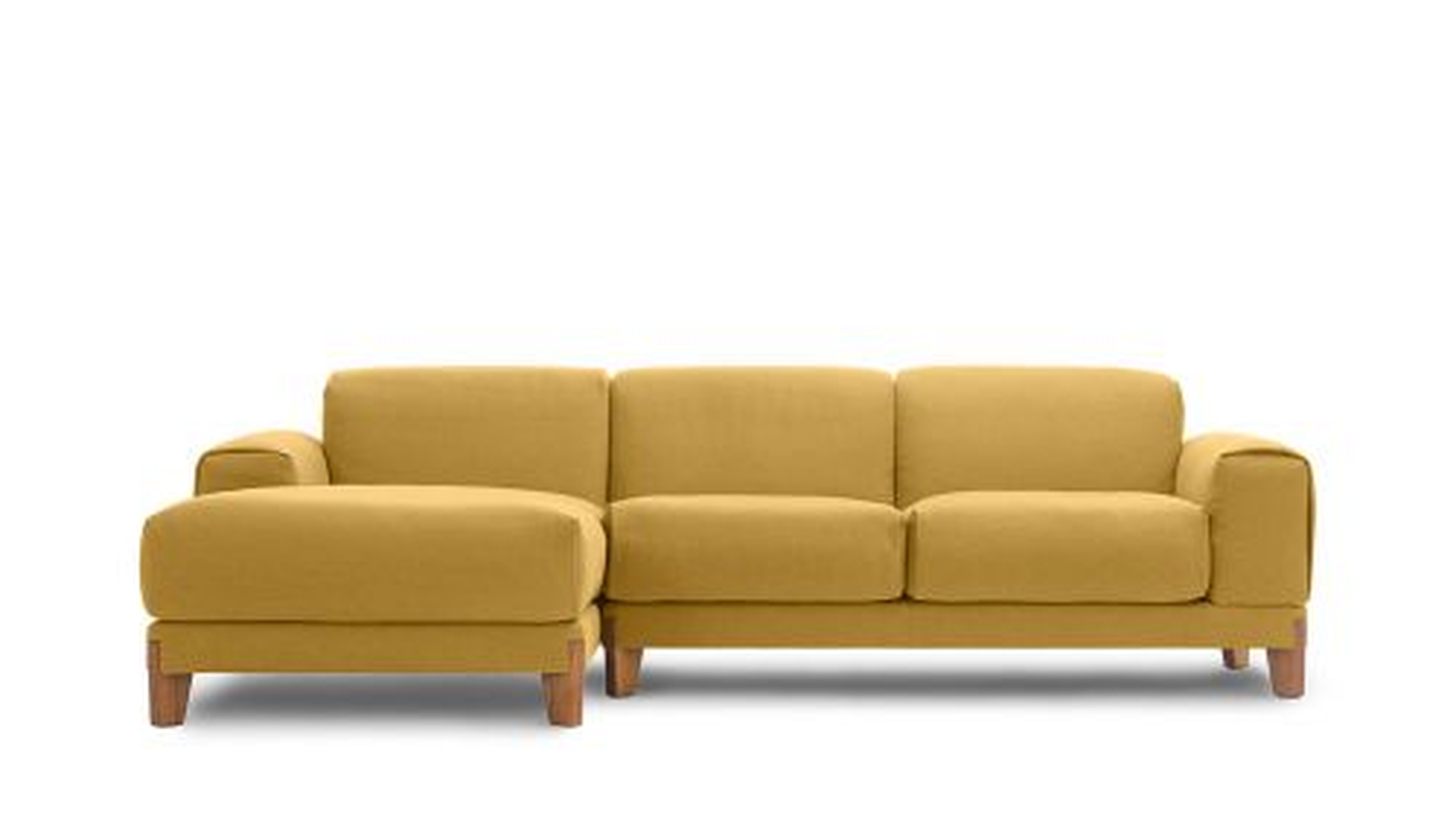 Canapea cu sezlong stanga Fjord Mustard