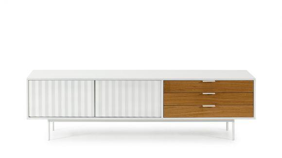 Comoda TV Sierra White/Oak 180 cm