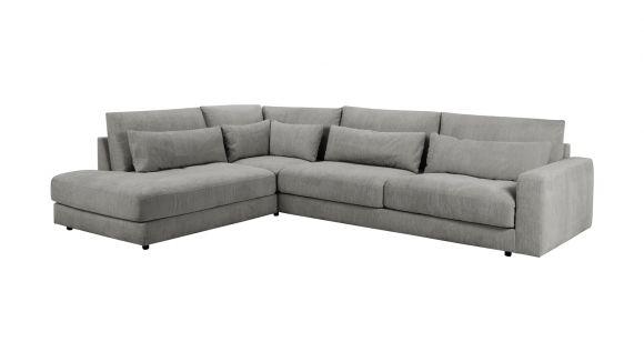 Canapea de colt cu divan Marstrand Skyland Grey, stanga