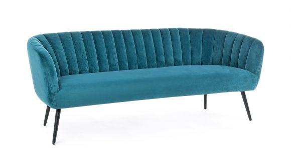 Canapea liniara 3 locuri Avril Velvet Blue