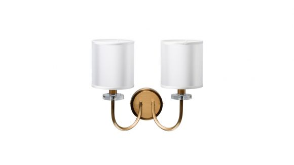 Aplica Palermo Brass shades 2X60W