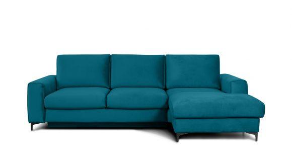 Canapea de colt extensibila Bella Piano Ocean Blue S3, dreapta