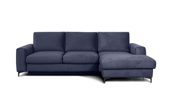 Canapea de colt extensibila Bella Kingston Denim Blue S3, dreapta