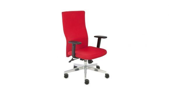 Scaun de birou Team Plus Chrome S1+R6 Flex Red