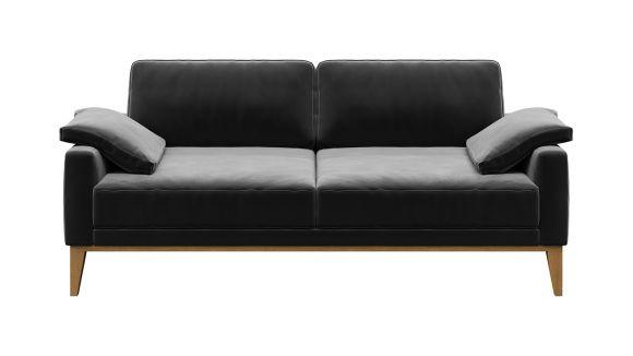 Canapea liniara 2 locuri Calini Velvet Dark Grey