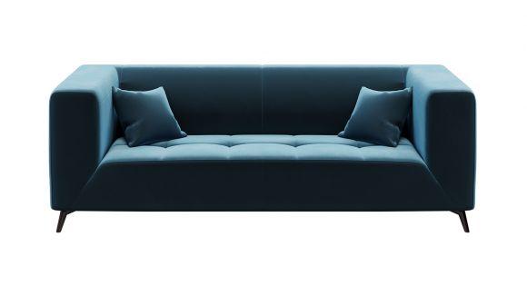 Canapea liniara 3 locuri Asti Velvet Dark Navy Blue