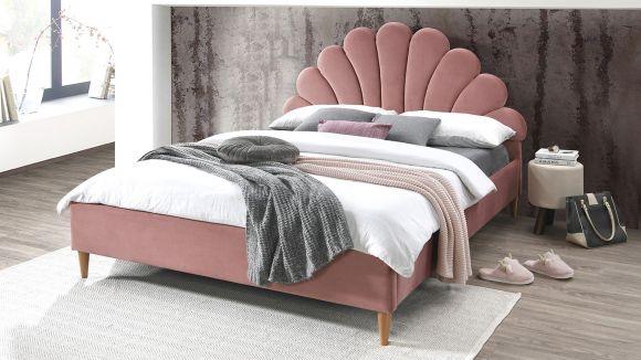 Pat Alfio pink velvet 160x200