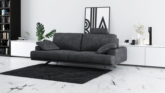 Canapea liniara 2 locuri Terni Italvelluti Dark Grey
