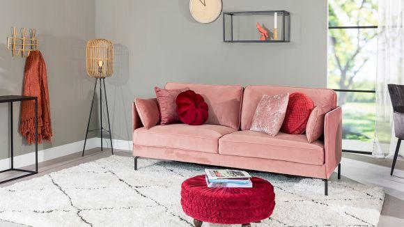 Canapea 3 locuri Karolina Velvet Pink